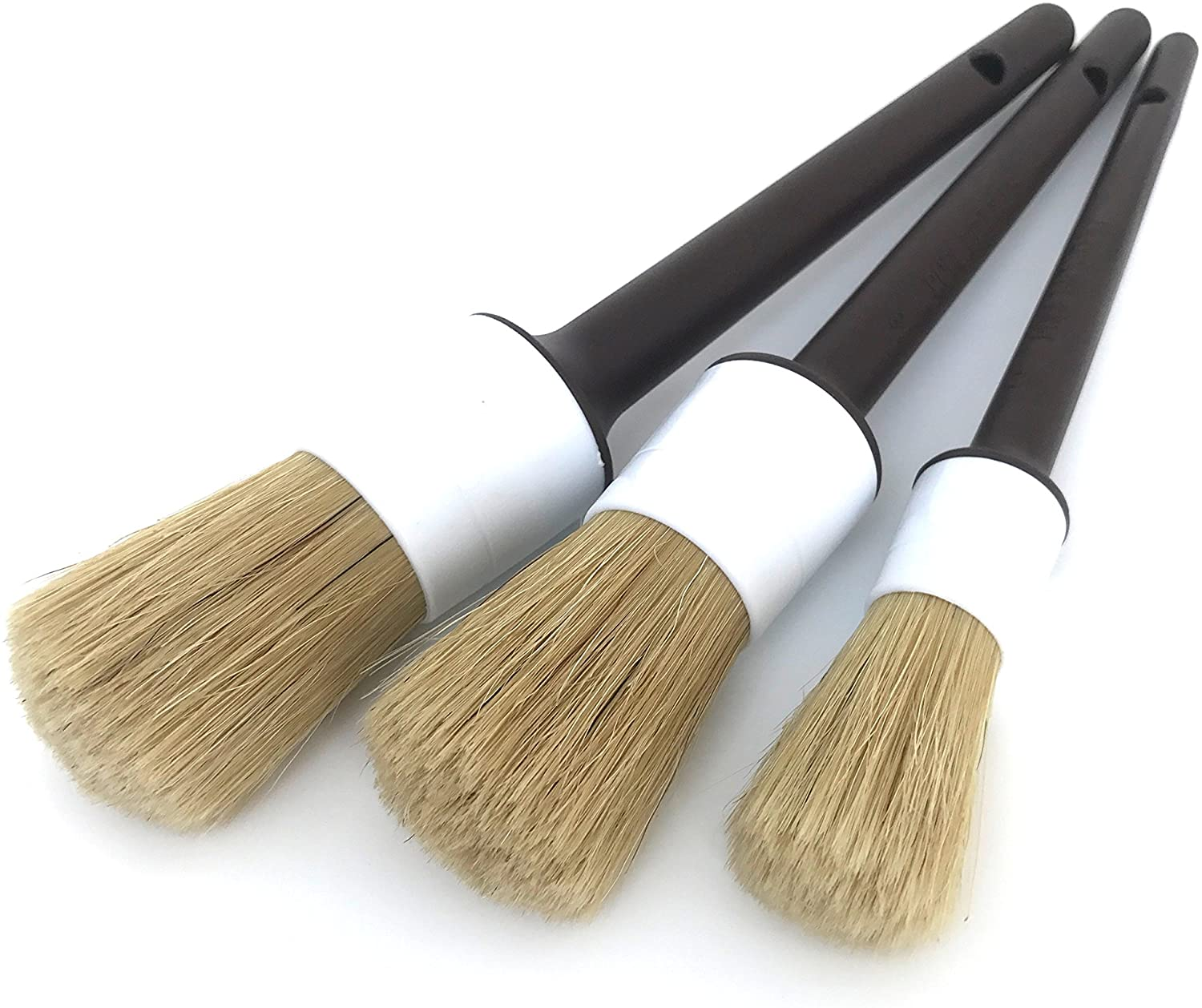 Detail Dudes Boars Hair Ultra Directly managed store Soft of Gorgeous - Brushes 3 Set Car