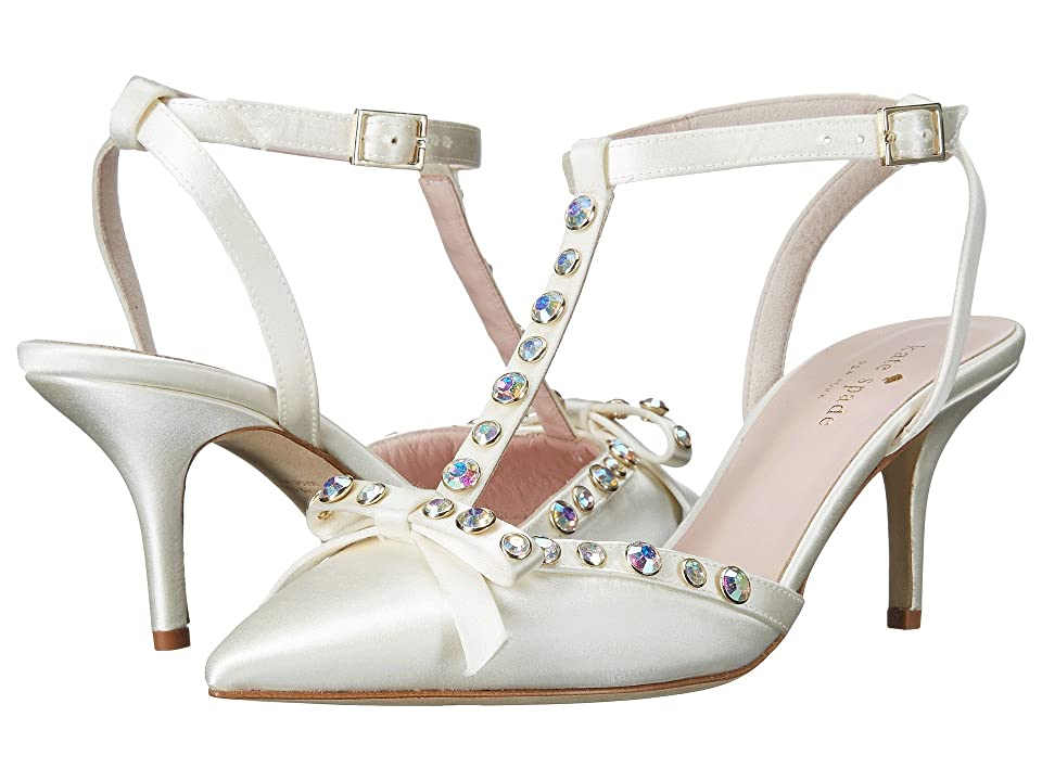 Kate Spade New York Julianna (Ivory Satin/Aurora Borealis Stones) Women
