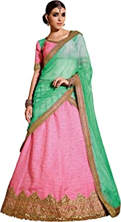 Ready to Wear Baby Pink Bollywood Indian Designer Lehenga Choli Dupatta Party Wear B14