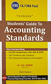Students' Guide to Accounting Standards [CA/CMA Final] (30th Edition,2017)