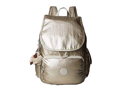 Kipling Citypack Backpack (Cloud Grey Metallic) Backpack Bags