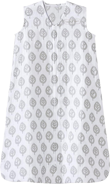 HALO 100% Cotton Muslin Sleepsack Wearable Great interest shopping Blanket TOG 0.5 Gre