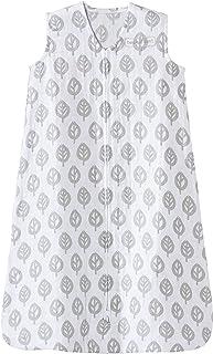 Halo 100% Cotton Muslin Sleepsack Wearable Blanket, Grey Tree Leaf, Extra-Large