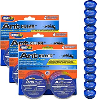 Home Plus Ant Killer (3 Pack), Metal Ant Traps Indoor & Outdoor, Ant Bait Station, Pet Resistant Ant Killer, Effective Ant...