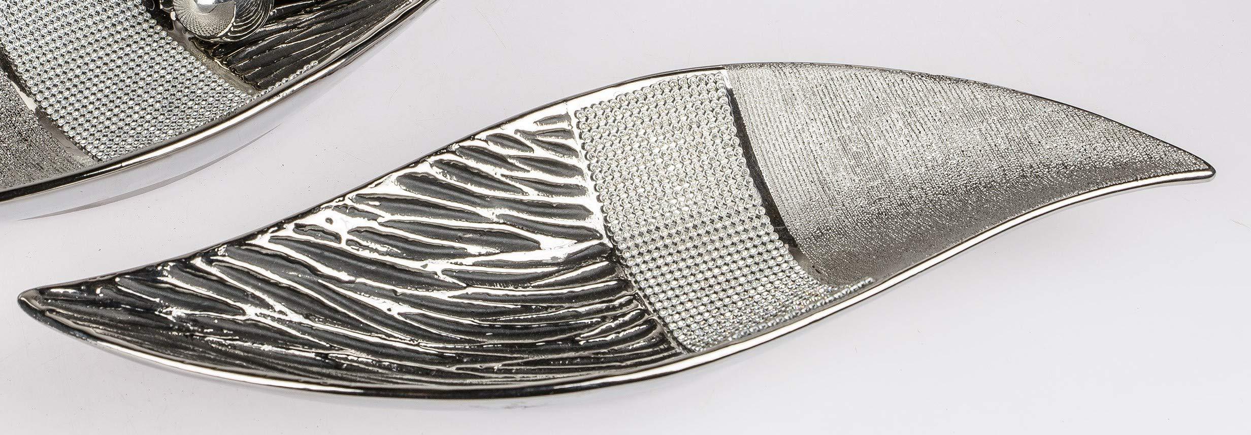 assiette strass Magic L 30 cm gris argenté en céramique d/'Art Formano Bol