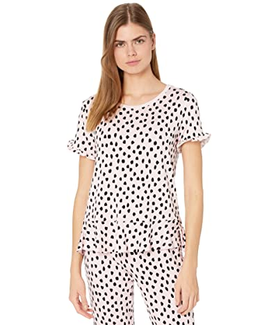 Kate Spade New York French Terry Short Sleeve Peplum Top (Pastry Spot) Women