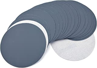 6 Inch (150mm) 2500 Grit High Performance Waterproof Hook & Loop Sanding Discs Heavy Duty Silicon Carbide Round Flocking Sandpaper for Wet/Dry Sanding Grinder Polishing Accessories, 20-Pack