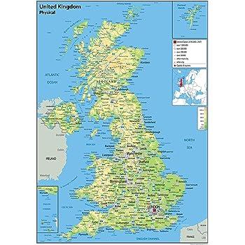 Cartina Geografica Regno Unito Fisica.Pollice Realizzabile Preconcetto Uk Cartina Geografica Amazon Agingtheafricanlion Org