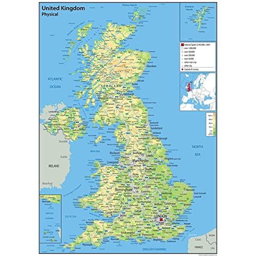 Map Of England And Britain.Map Of England Amazon Co Uk