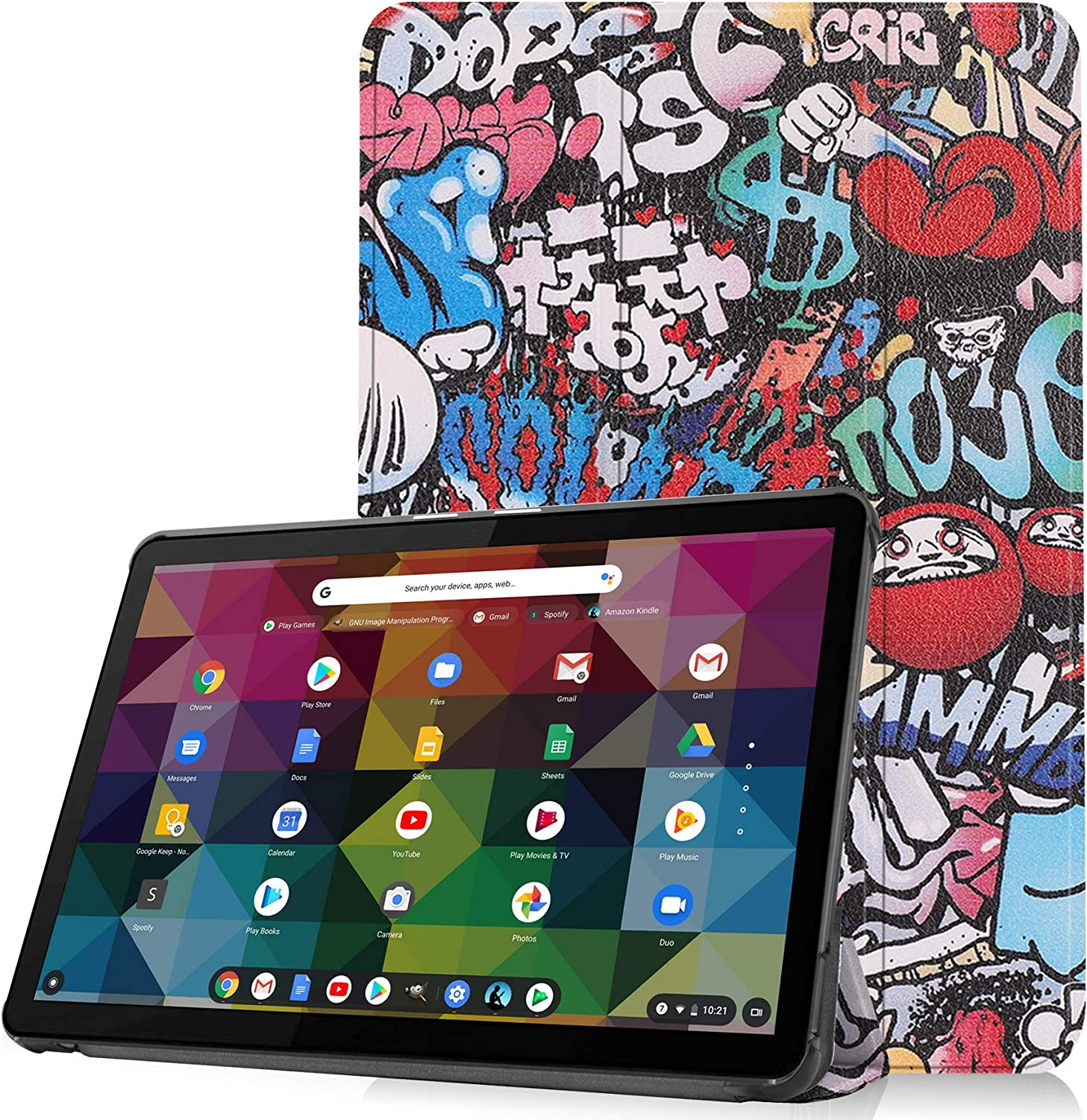Gylint for Lenovo Chromebook Duet 2-in-1 Tablet Our shop OFFers the best service Case Foldi 10.1 Long Beach Mall