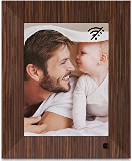 NIX Lux 8-Inch Digital Photo Frame X08F Wood (Non-WiFi) - Wall-Mountable Digital Frame with 1024x768 XGA IPS Display, Motion Sensor, USB and SD Card Slots and Remote Control, 8 GB USB Stick Included