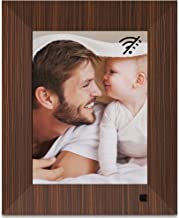NIX Lux 8 Inch Digital Photo Frame Wood - IPS Display, Auto-Rotate, Motion Sensor, Remote Control - Mix Photos and Videos in The Same Slideshow