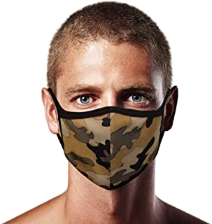 Made in USA Men's 3D Face Mask – Protective, Reusable, Comfortable and Breathable Mouth and Nose Cover