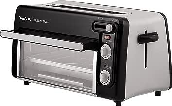 Moulinex Toast & Grill TL600830 - Tostador y horno, 2 en 1, potencia 1300 W, 1 ranura larga, temporizador 10 min, termostato regulable hasta 220 C, Incluye libro de recetas, bandeja recogemigas
