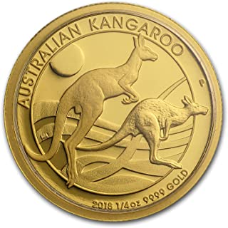2018 AU Australia 1/4 oz Gold Kangaroo Proof Gold Brilliant Uncirculated