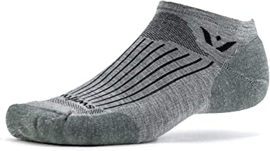 Swiftwick- PURSUIT ZERO | Socks Built for Running & Golf | Fast Dry Merino Wool, Ultimate Durability No Show Socks