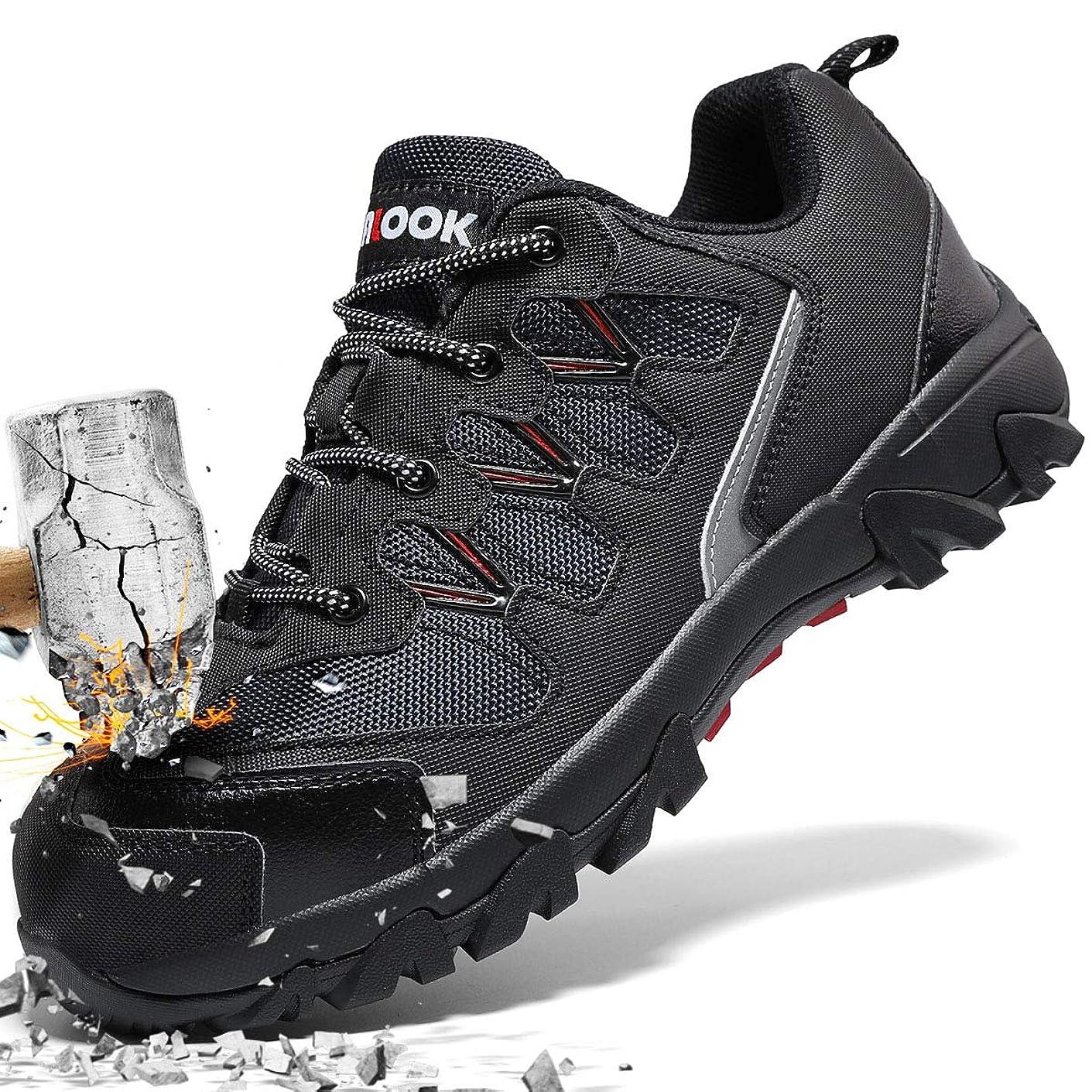 常習者偽急ぐ安全靴 メンズ 作業靴 レディース ローカット 耐油 防水 ワーキングシューズ 通気性 防臭 安全スニーカー 鋼製先芯 ワークマン 靴 快適性 耐久性 3E 大きいサイズ