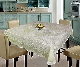 Katwa Clasic - 54 x 54 Rose Lace Vinyl Tablecloth (Lemon)