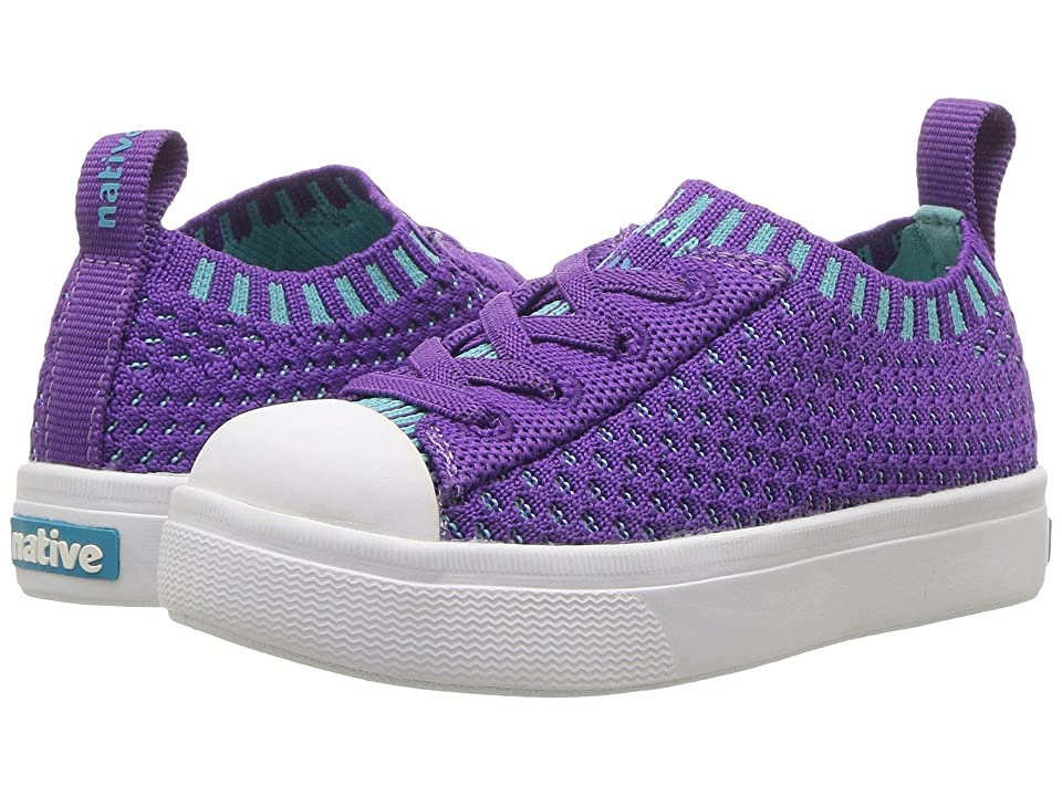 Native Kids Shoes Jefferson 2.0 Liteknit (Toddler/Little Kid) (Starfish Purple/Shell White) Girls Shoes