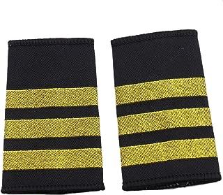 JETEHO 1 Pair Professional Pilot Uniform Epaulets - Three Bars