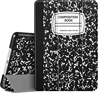 """Fintie Case for iPad 7th Generation 10.2 Inch 2019 - Lightweight Slim Shell Standing Hard Back Cover with Auto Wake/Sleep Feature for iPad 10.2"""" Tablet, Composition Book Black"""