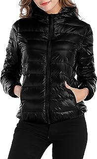 Sarin Mathews Womens Packable Ultra Lightweight Down Jacket Outwear Puffer Coats