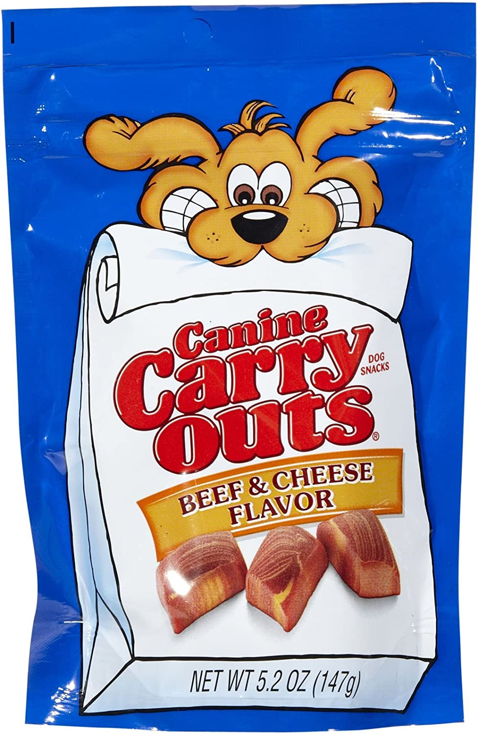 Canine Carry Outs 7910051036 5.2 Oz Beef & Cheese Flavored Dog Snacks
