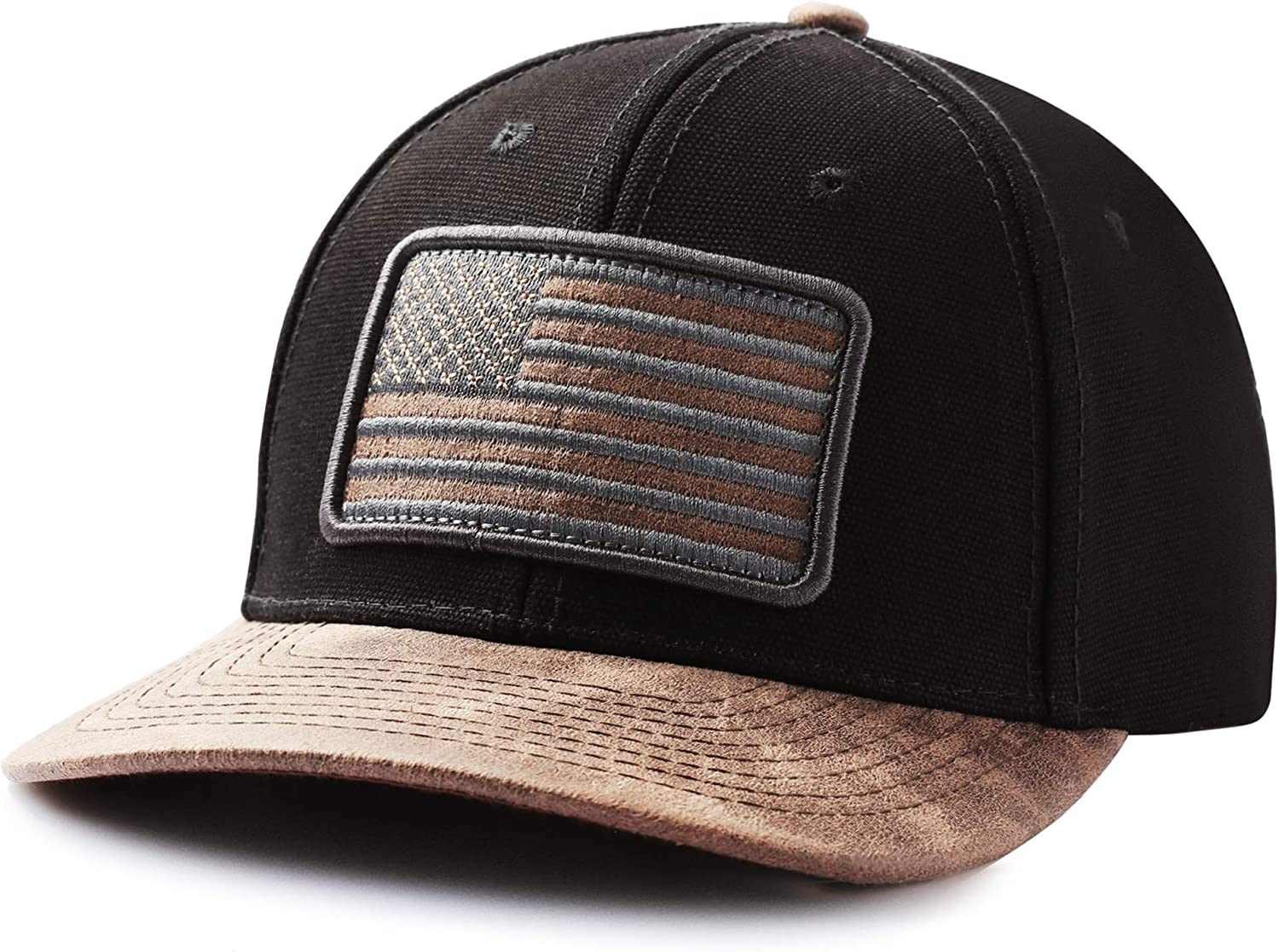 IIN American Flag Hat for Men Women Low Profile USA Plain Baseball Cap Outdoor Snapback Hats Perfect for Sports and Daily Use