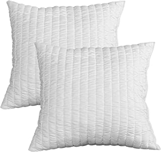 Evergreenweb – Par de almohadas de 60 x 60 x 12 cm de espuma viscoelástica para cama o sofá, relleno 100 % de copos suaves con efecto pluma, indeformable, transpirable, hipoalergénico, 2 almohadas