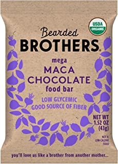 Bearded Brothers Vegan Organic Energy Bar   Gluten Free, Paleo and Whole 30   Soy Free, Non GMO, Low Glycemic, Packed with...