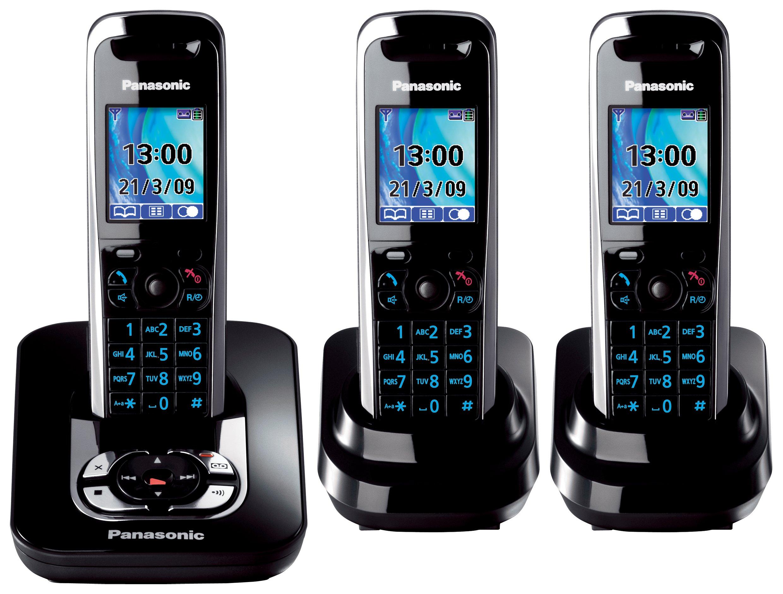 Panasonic KX-TG8423 - Teléfono (DECT, 40 min, Negro, 200 entradas, 128 x 160 Pixeles, 0,065000M): Amazon.es: Electrónica