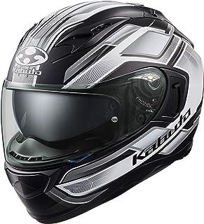 オージーケーカブト(OGK KABUTO)バイクヘルメット フルフェイス KAMUI3 ACCEL(アクセル) フラットブラックホワイト (サイズ:XL) 585808