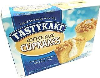 Tastykake Creme Filled Koffee Kake Cupcakes | Philadelphia Coffee Cake Individually Wrapped Snack Cakes | 4 Family Boxes