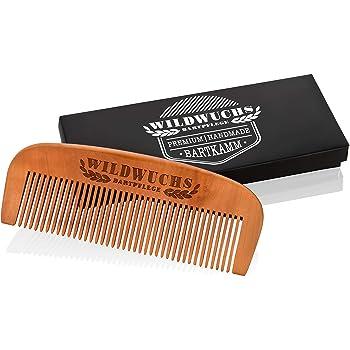 Bartkamm von Wildwuchs Bartpflege - Holz Bart Kamm Männer aus Echtholz im Geschenk Etui für einen natürlichen und gesunden Bartwuchs