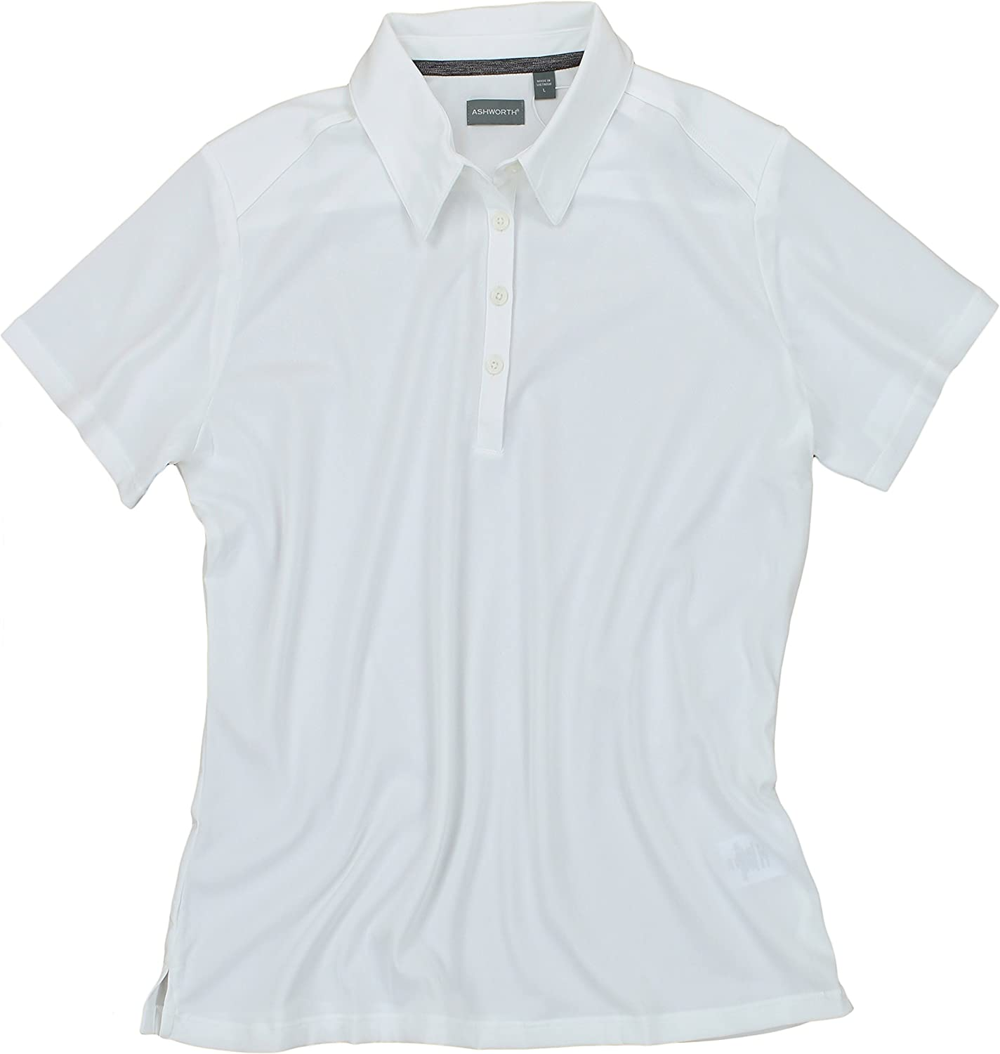Ashworth Women's EZ-TECH2 4 years warranty Short Sleeve Solid Special Campaign Polo Shirt