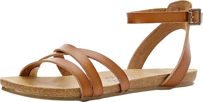 Blowfish Womens Galie Scotch Ankle Strap Flat Sandals Size