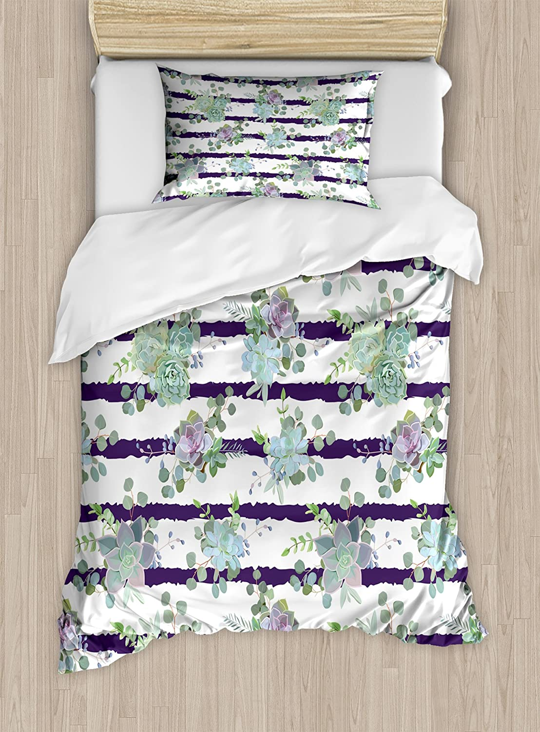 Ambesonne Succulent Duvet Cover Ranking TOP18 Set in M Ranking TOP11 Pattern Cactus Natural