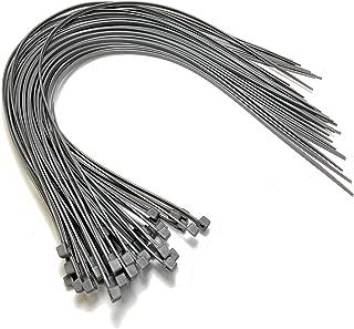 Kabelbinder – 450 mm x 4,8 mm – extra lange Kabelbinder – hochwertige Nylon Kabelbinder (50, grau)