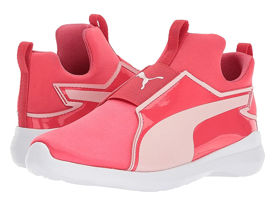 Puma Kids Rebel Mid Satin (Little Kid) (Paradise Pink/Pearl) Girls Shoes