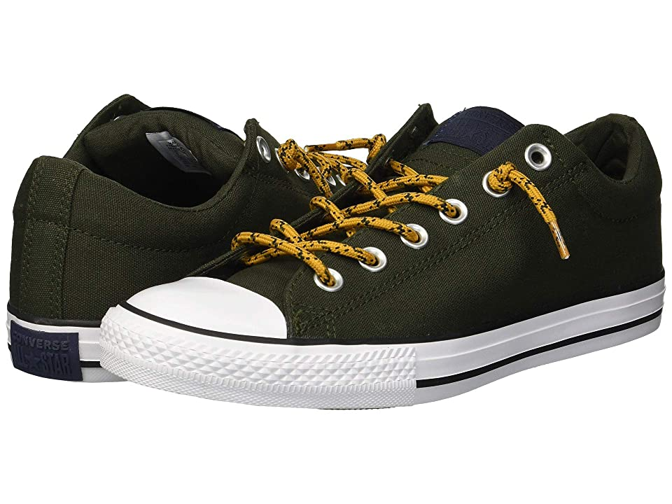 Converse Kids Chuck Taylor All Star Street Slip (Little Kid/Big Kid) (Utility Green/Tumeric Gold) Boys Shoes