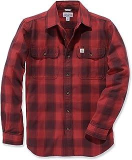 Carhartt Men Long-Sleeve Shirt Hubbard Slim-Fit Flannel