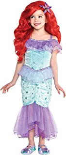 Party City The Little Mermaid Ariel Costume for Children, Size 3T to 4T, Dress Features Purple Mesh Character Cameo