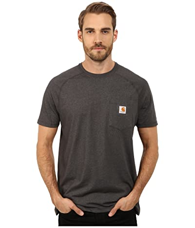 Carhartt Force(r) Cotton Delmont Short-Sleeve T-Shirt (Carbon Heather) Men
