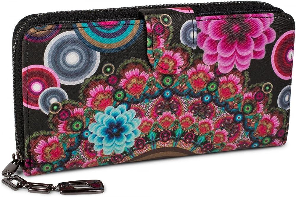 Stylebreaker portafogli porta carte di credito per donna in pelle sintetica 02040040