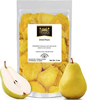 Traina Home Grown Extra Fancy Dried Pears - Healthy, No Added Sugar, Non GMO, Gluten Free, Kosher Certified, Vegan, Packed...