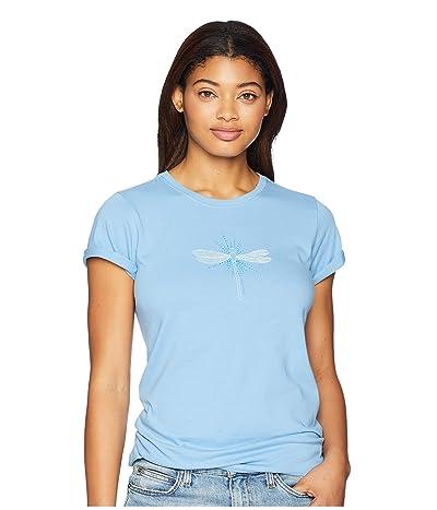 Life is Good Radiant Dragonfly Crusher T-Shirt (Powder Blue) Women