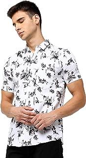 Maniac Printed Men's Half Sleeve Slim Fit Casual Shirt