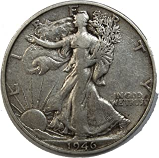 1946 S Walking Liberty Half Dollar 50c Very Fine