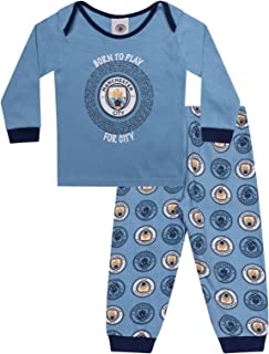 Manchester City FC Official Soccer Gift Boys Kids Baby Pajamas