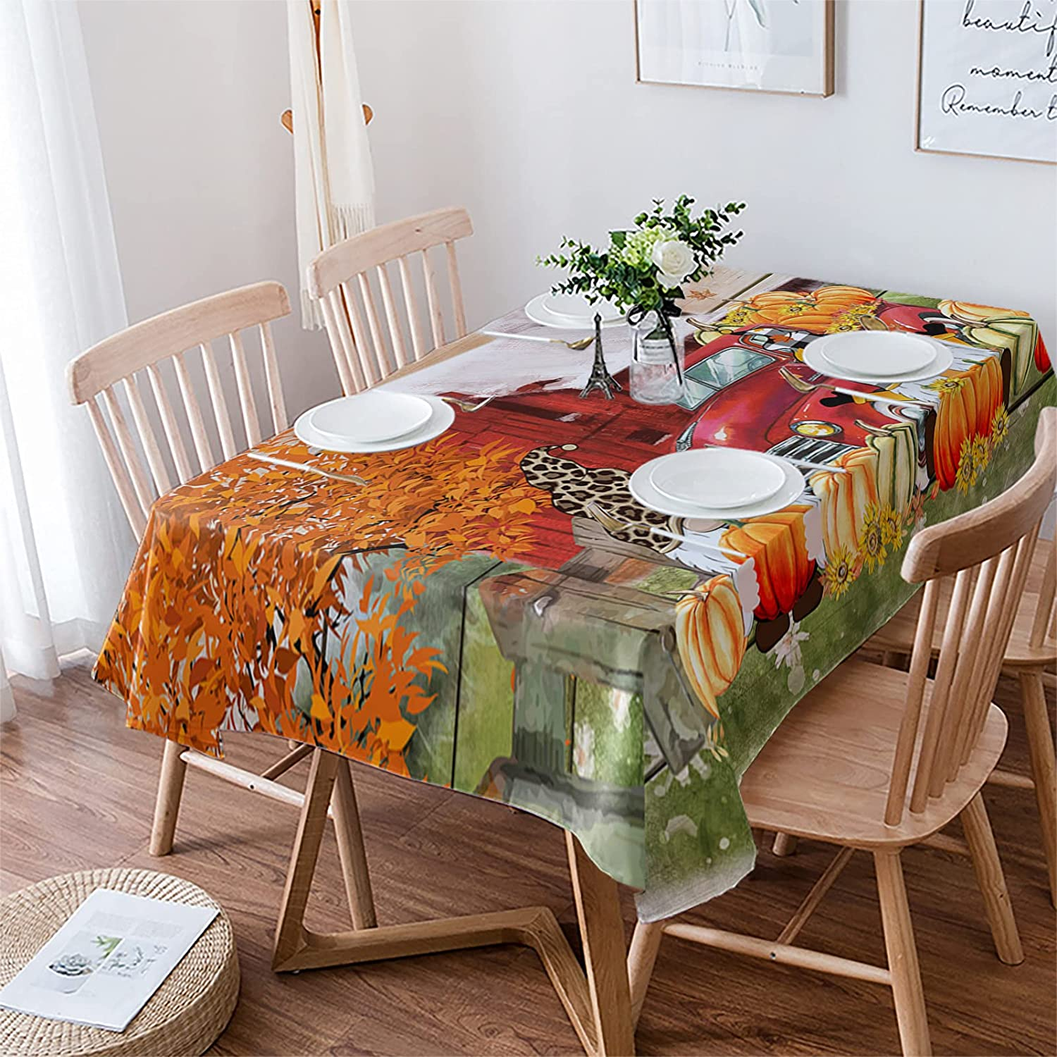 Yun Outstanding Nist Tablecloths for Rectangle Fall Table Thank Decor Leaves Omaha Mall